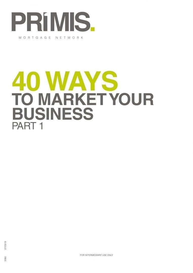 PRIMIS how to market your business part 1 front cover