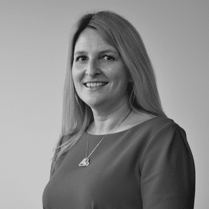 jo blackburn PRIMIS operations director in black and white