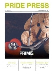PRIMIS PRIDE Press magazine March 2019 front cover