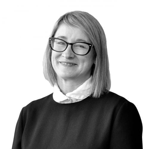 cutout studio portrait of regional sales director clare madge